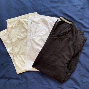 Men's V-Neck T-Shirt Bundle (Neutral Colors)